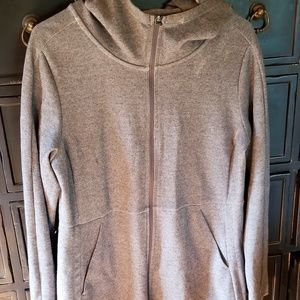 Grey zip up sweatshirt